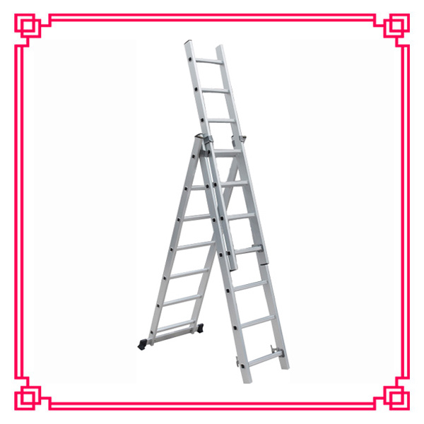 3 Section Ladder : China section aluminum extension ladder