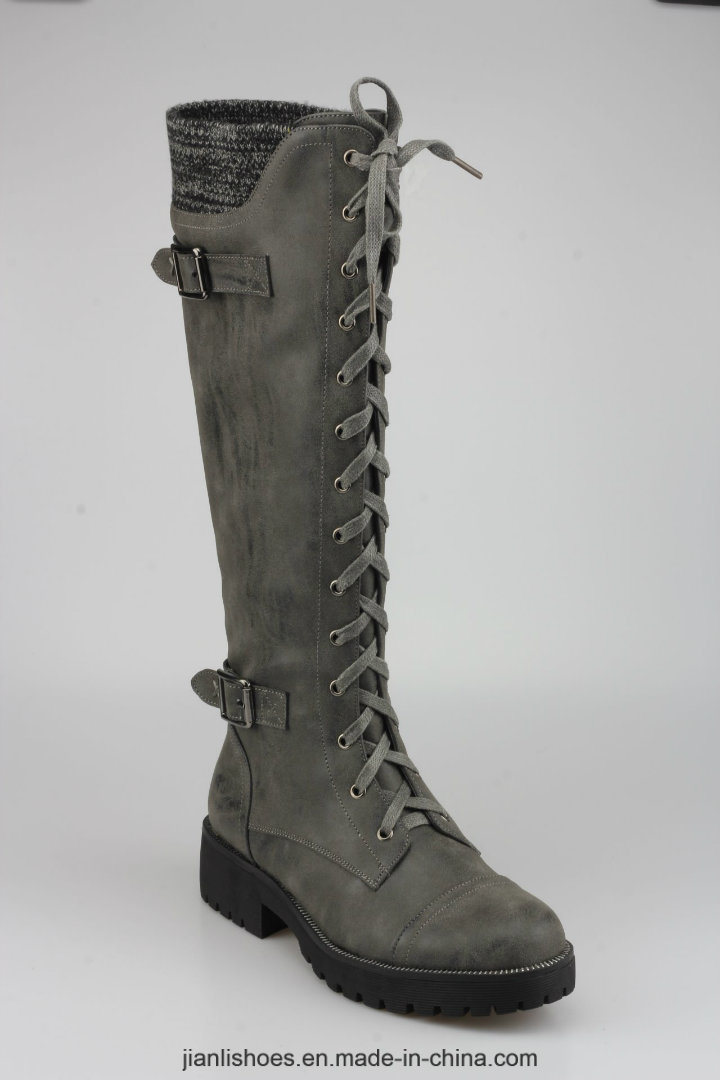 2018 Classic Style Knee-High Women Boots with Sexy Decoration (BT756)