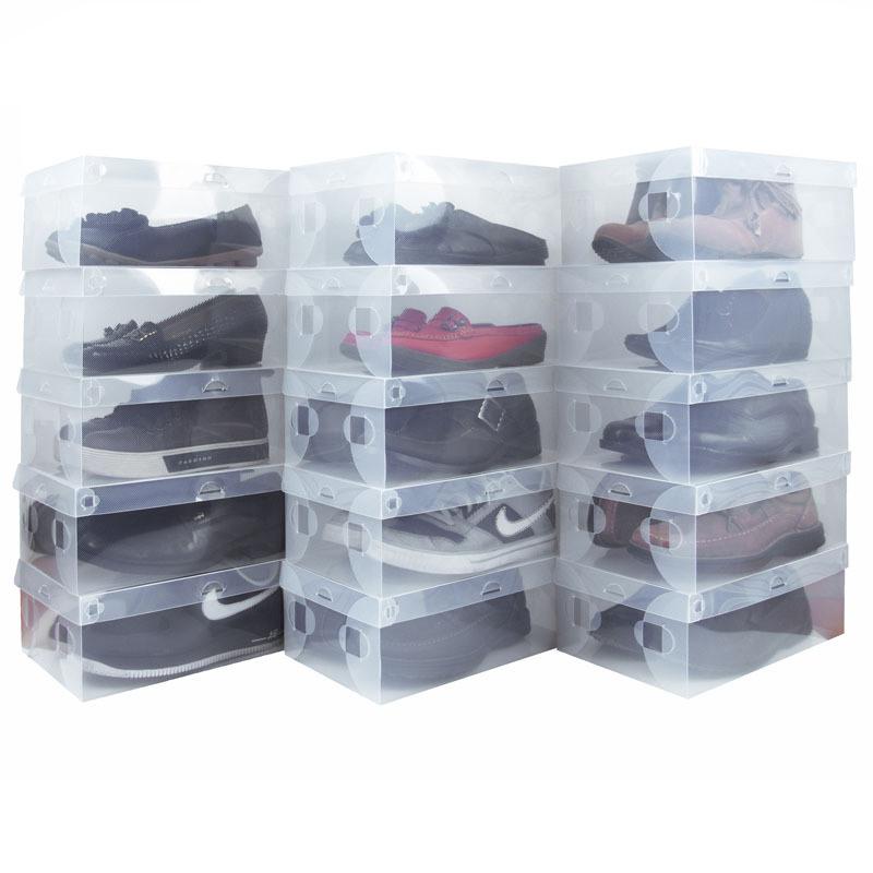 Zapatos de pl stico transparente caja de zapatos clara - Cajas transparentes para zapatos ...