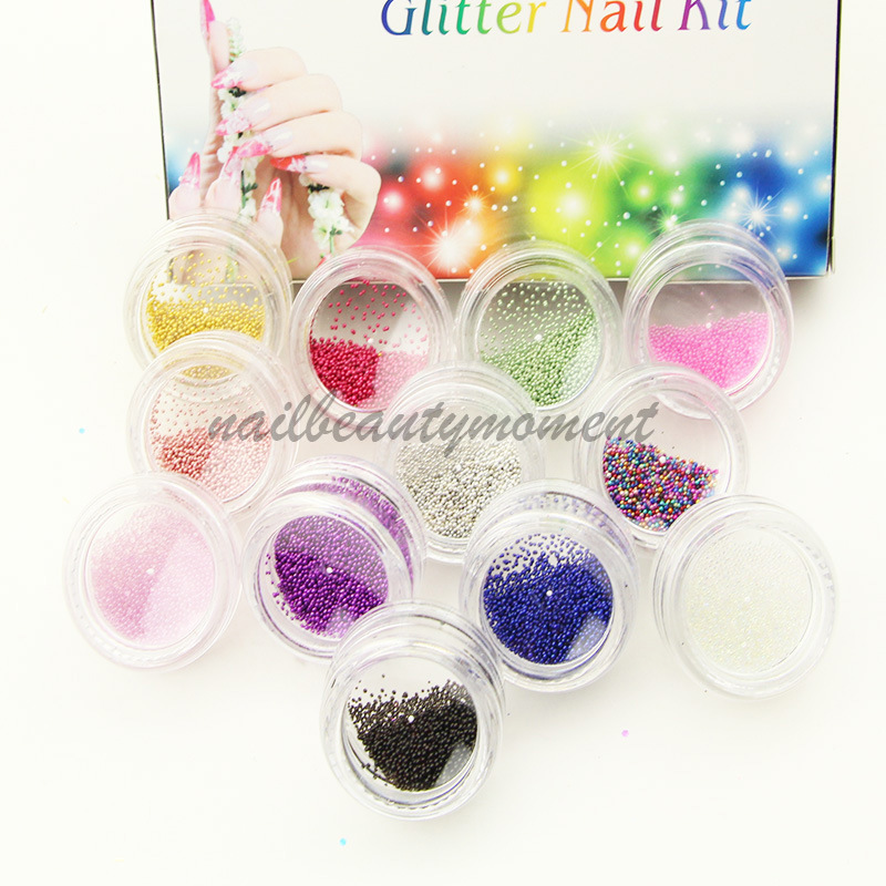Nail Art Micro Mini Beads Dazzling Caviar Beads 3D Nail Decoration ...