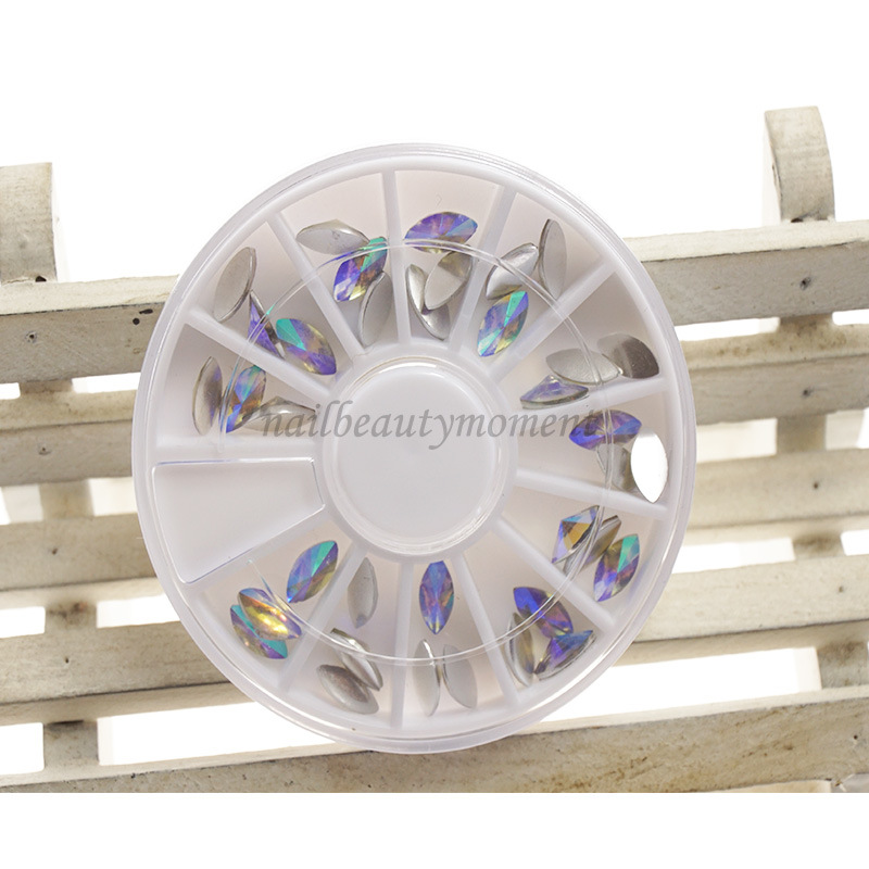 Nail Art Beauty Crystal Horse Eye Rhinestone Decoration Wheel (D84)