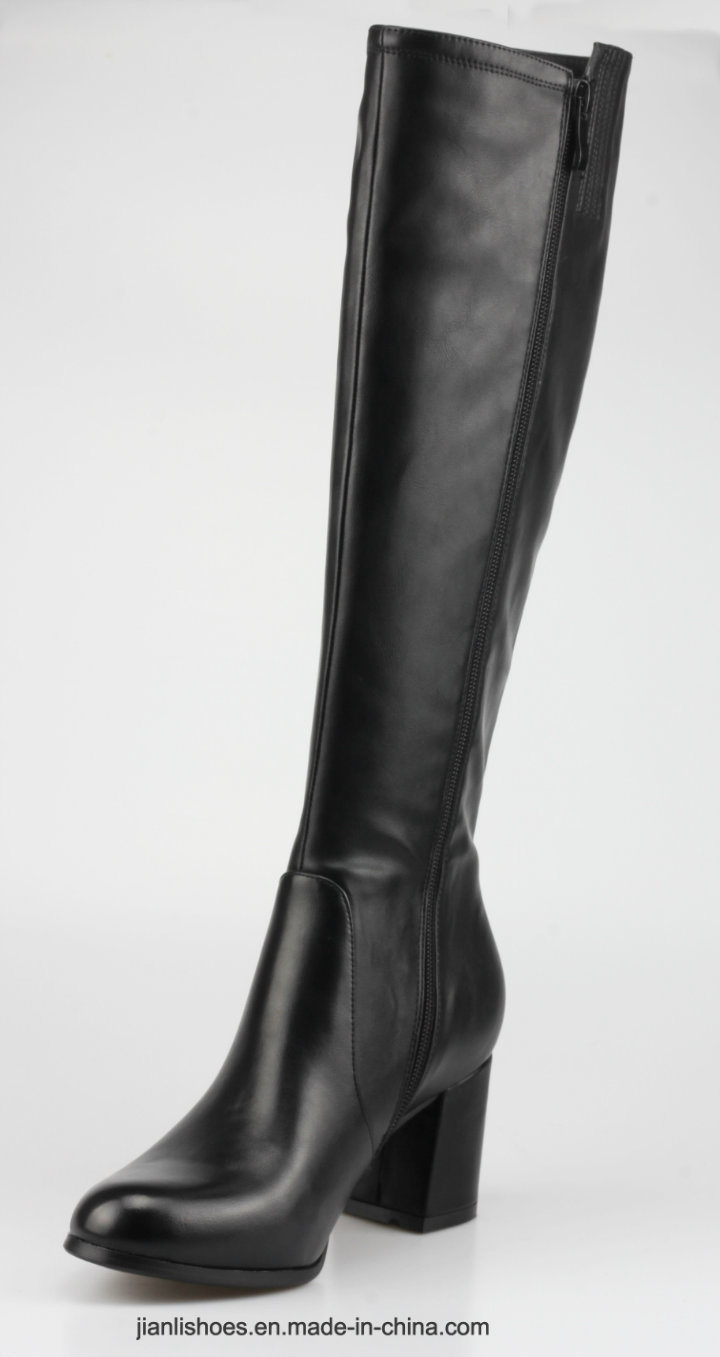 2018 England Style Women Shoe Knee-High Boots with Crystal (BT739)