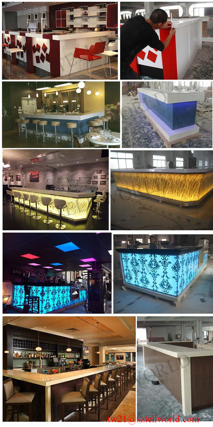 china custom made furniture cafe restaurant bar decoration l shape