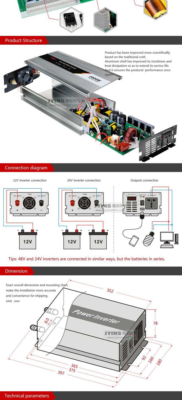 Fixture Wiring Diagram 110v 230v V Downlights Car Power Inverter Solar Circuit Electroschematics Com Voltage Polarity