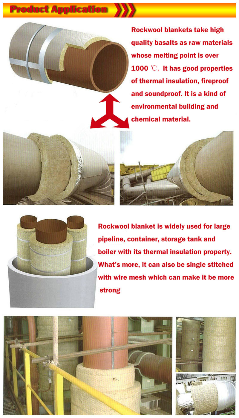 China thermal rockwool insulation material blanket for for Rockwool insulation properties