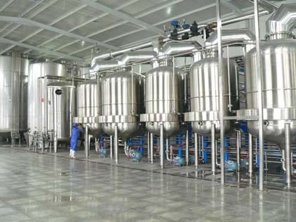 project on milk production unit Milk processing plant (1kl and above) gourav process solutions offers dairy  plant that includes small milk processing equipment for handling milk in litter.
