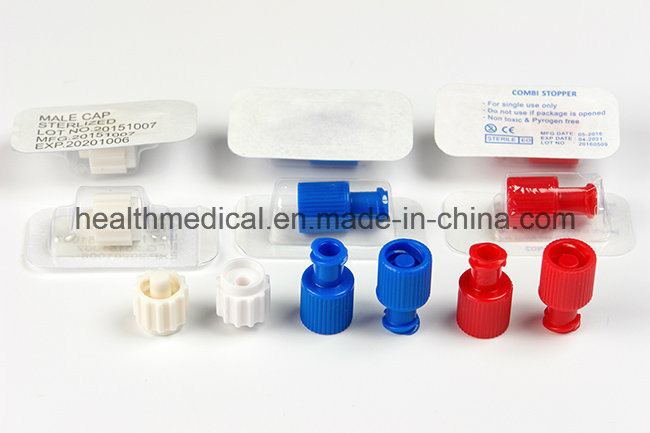 China Red Male And Female Luer Lock Cap For Disposable
