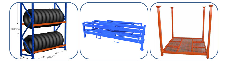 New Style Folding Steel Warehouse Tire Racking