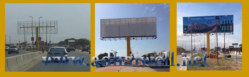 Double side ext rieure colonne galvanis structure en for Pancarte exterieure publicitaire