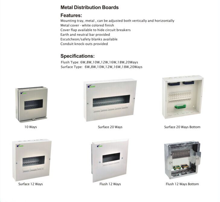 China Metal Distribution Boards Used For Cbi Type Circuit