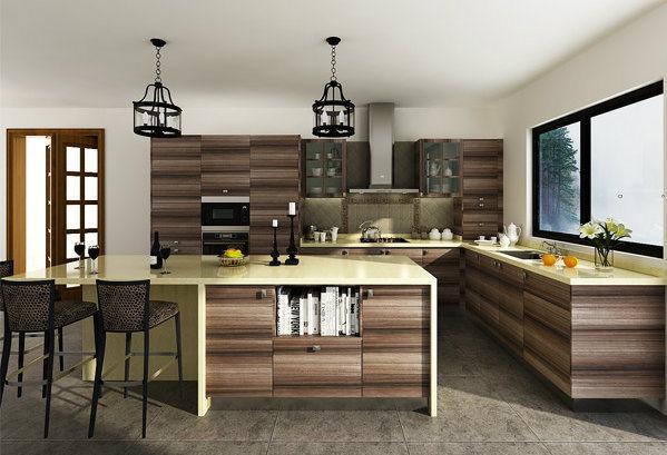 armadio con dentro cucina: armadio da cucina a forma di u dell ... - Armadietti Della Cucina Idee Progettuali