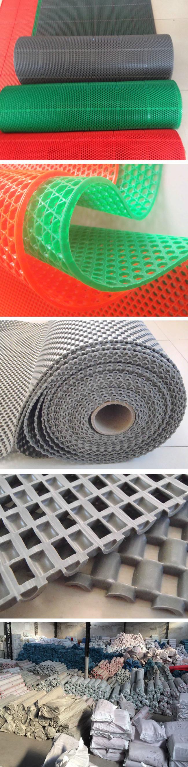 china wet area anti slip non skid plastic vinyl pvc door floor  flooring mats roll