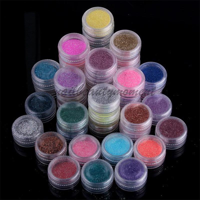 Nail Art Glitter Powder Aksesoris Debu Kit Dekorasi Kecantikan (D45)