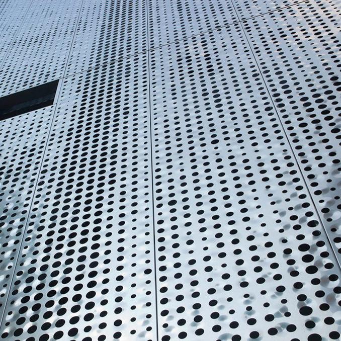 Round Aluminium Panel : China staggered round perforation aluminum panels for