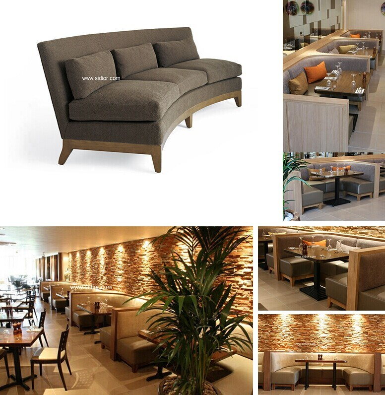 (SD-4001) Modern Hotel Restaurant Dining Furniture Wooden Booth Sofa