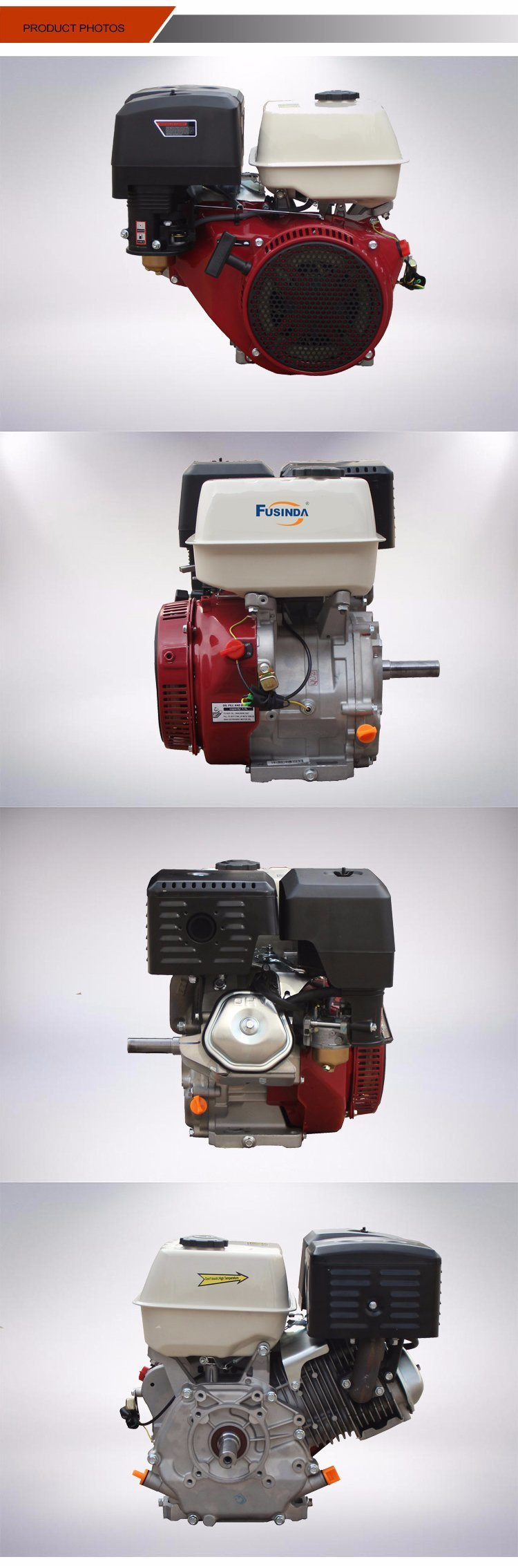 7HP / 208cc Air-Cooled Engine, Small Gasoline Petrol Engine