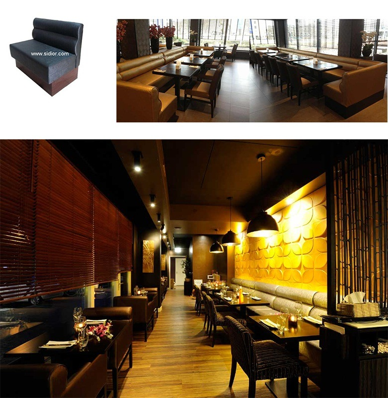 (SD-1011K) Modern Hotel Restaurant Dining Furniture Wooden Booth Sofa