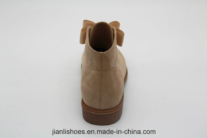 New Style Women Bowknot Round Toe Ankle Boot (AB600)