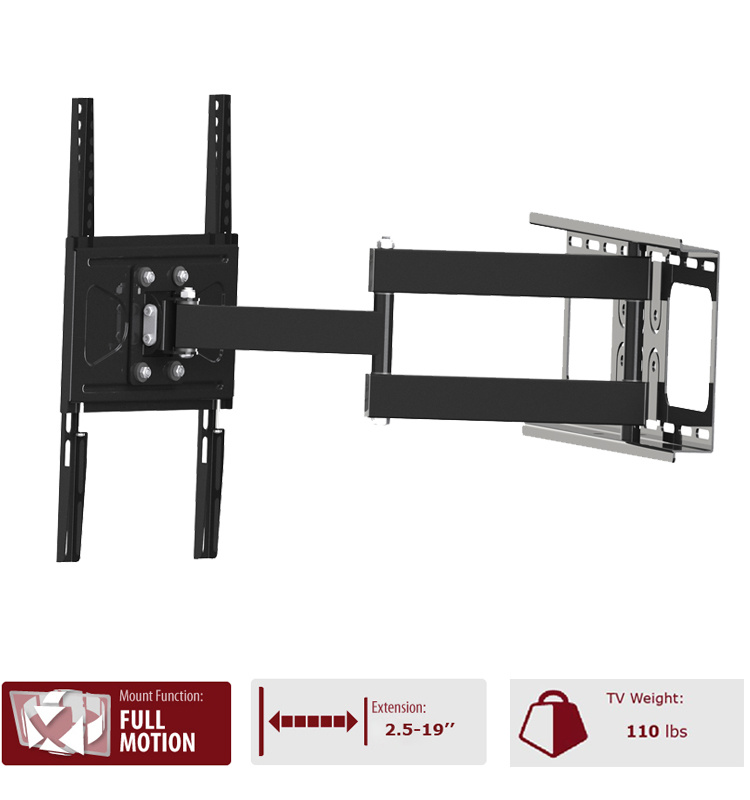 China Best Selling Full Motion Wall Mount Retractable Led