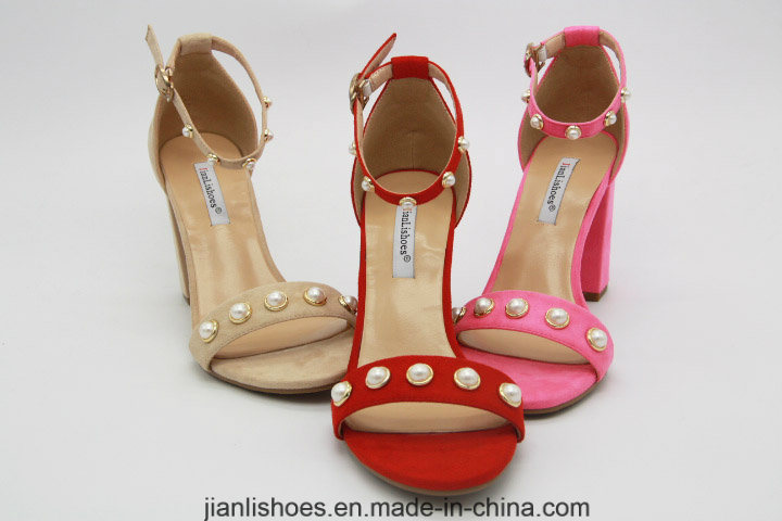 Classic Style Sexy Sandals with Double Peals Decoration (HSA48)