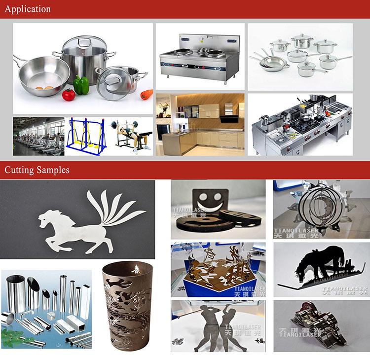 China Steel Plate Metal Tube Laser Cutting Engraving