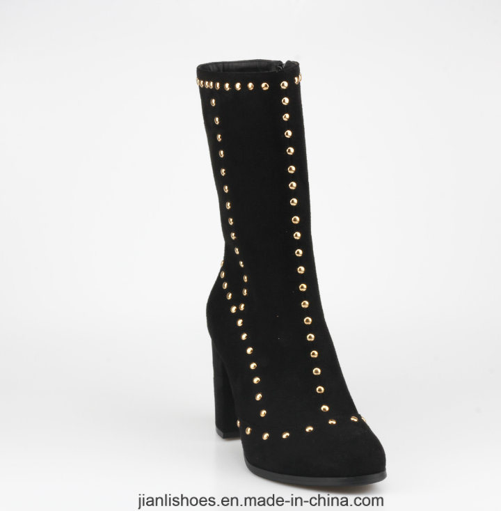 Sexy Style Ankle Boots with Rivet Chain Decoration (AB646)