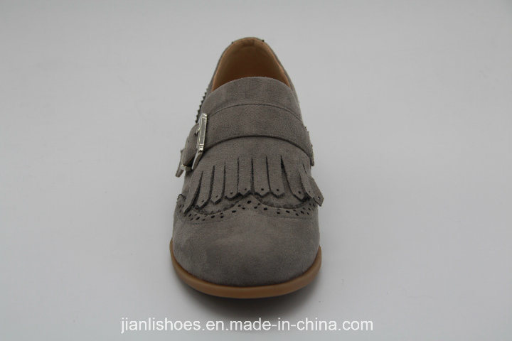 Buckle Flat Carve Patterns Oxford Shoes for Fashion Lady (OX51)