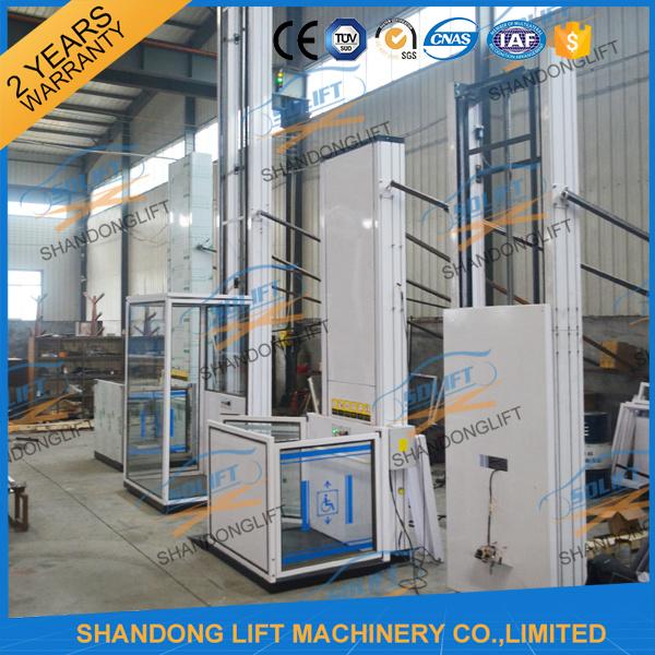 China Home Elevator Vertical Wheelchair Hydraulic Elevator