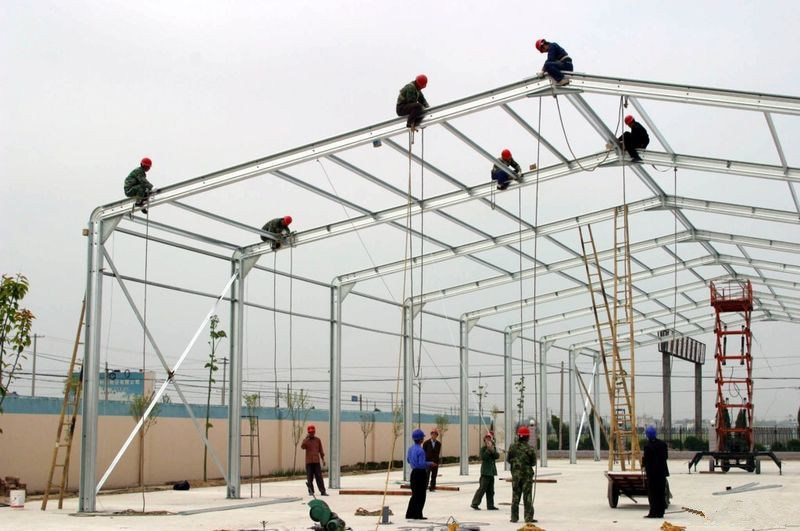 Prefabricated Large Span Light Frame Corrugated Steel Shed