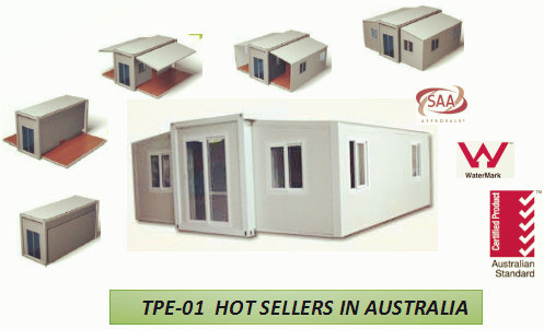 china folding prefab guest house with bathroom and kitchen