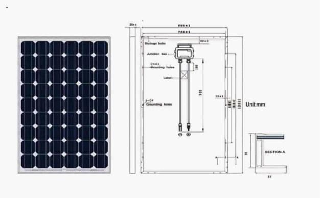 195W-235W Mono-Crystalline Silicon Solar Panel
