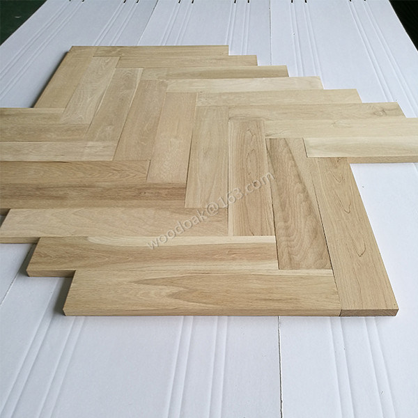 China oak unfinished herringbone flooring with 90 degree for Wood floor 90 degree turn