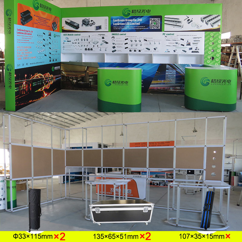 Exhibition Stand Led Lighting : China custom portable modular exhibition booth stand for