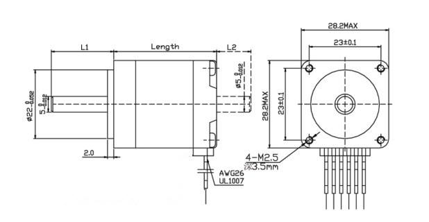 china nema 11 micro stepper motor