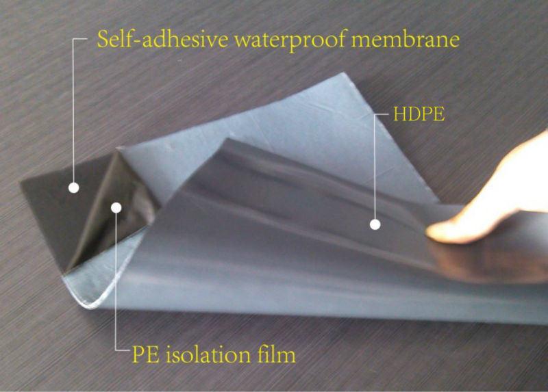 Self Sealing Membrane Roof : China mm thickness pe hdpe eva film self adhesive