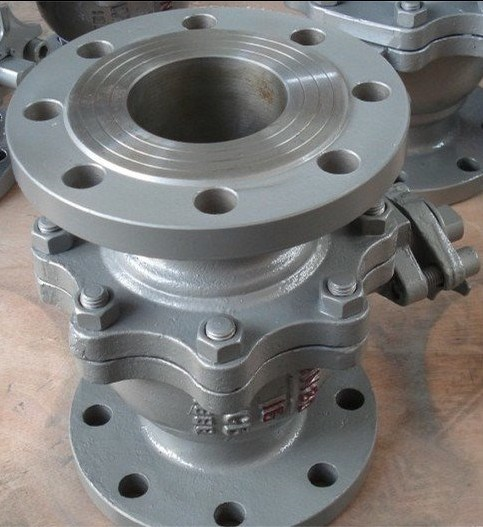 2PC Stainless Steel Flanged SUS304, 316. Floating Ball Valve