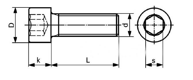 m5 12 carbon steel cap head bolt hexagon socket