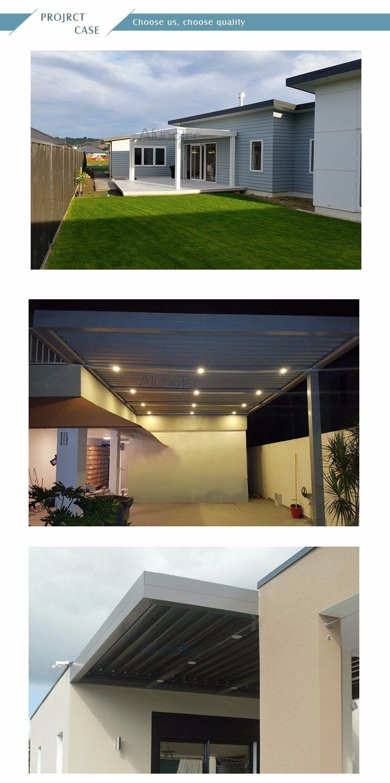 China Motorized Waterproof Roof Louver Pergola China