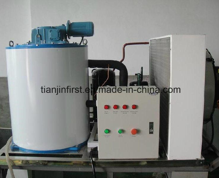 Máquina de hielo en escamas de agua salada enfriada por aire