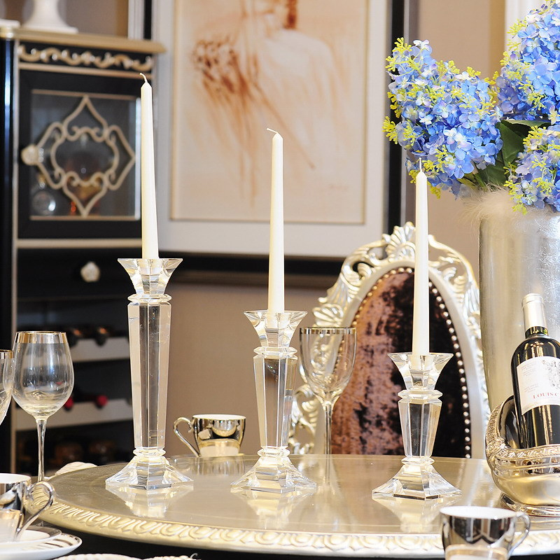 China Crystal Candlestick European Style Home Decoration
