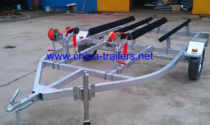 China Double Galvanized Jet Ski Pwc Trailer China Double