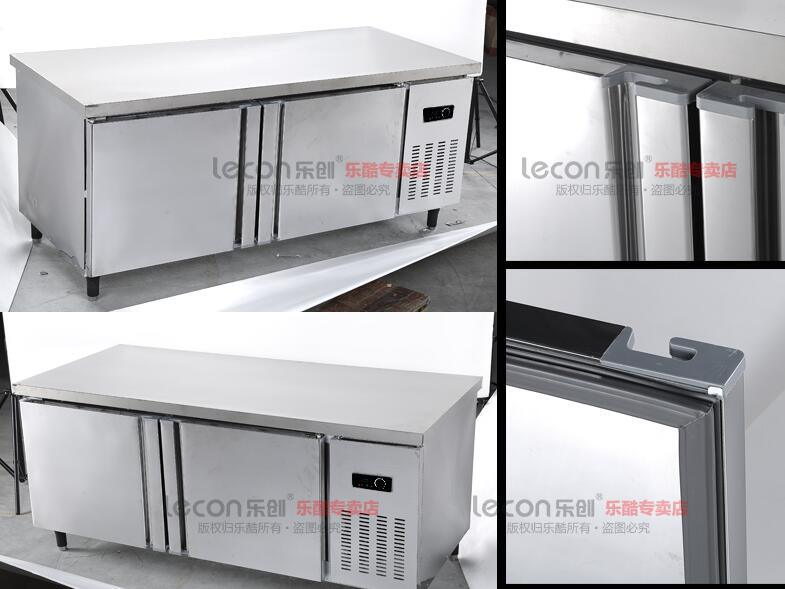 China commercial stainless steel work table kitchen refrigerator with backboard china kitchen - Kitchen backboards ...