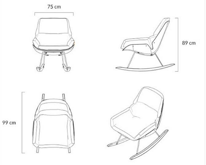 China Soft Sofa Relax Lounger Nino Rocking Chair China