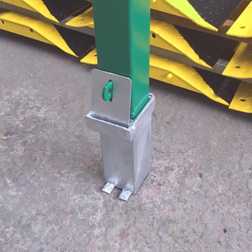 Metal Removable Bollard Rb12 Green