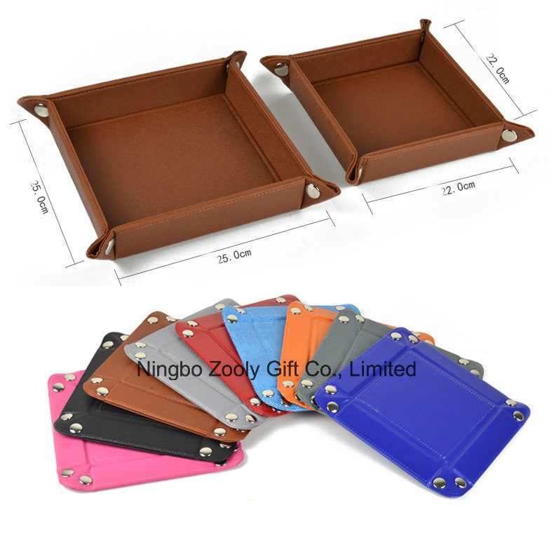 China Wholesale Faux Leather Desktop Snap Tray Organizer Document Tray