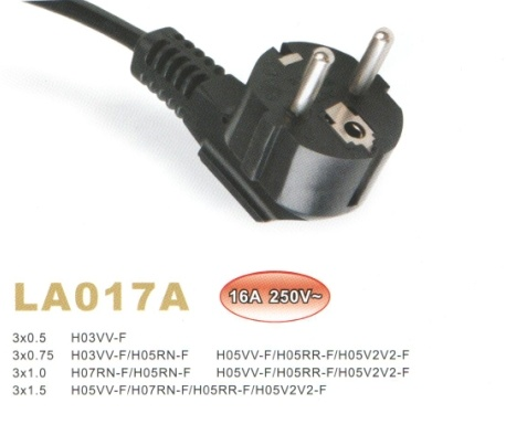 china power cord with vde approval china vde approved power cord power cords with vde. Black Bedroom Furniture Sets. Home Design Ideas