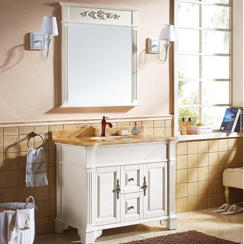 China european waterproof ash wood bathroom vanity cabinet for Waterproof bathroom cabinets