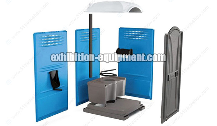 Portable Toilet Exhibition : China prefab rotomold outdoor plastic portable toilet for