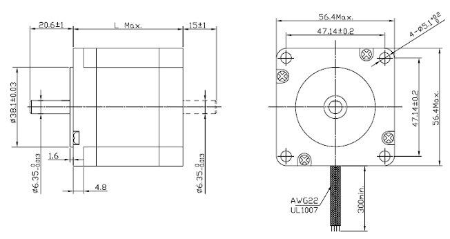 1 8 gradi 2 nema stepper motor di fase nema23 per machines