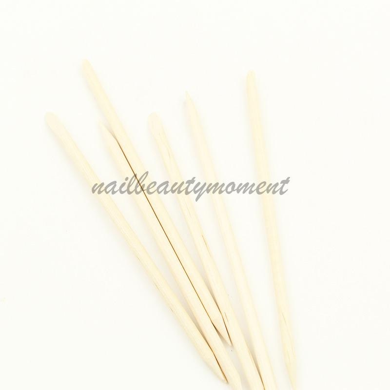 Nail Art Оранжевые деревянные ручки для кутикулы Stick Nail Tools (NT08)